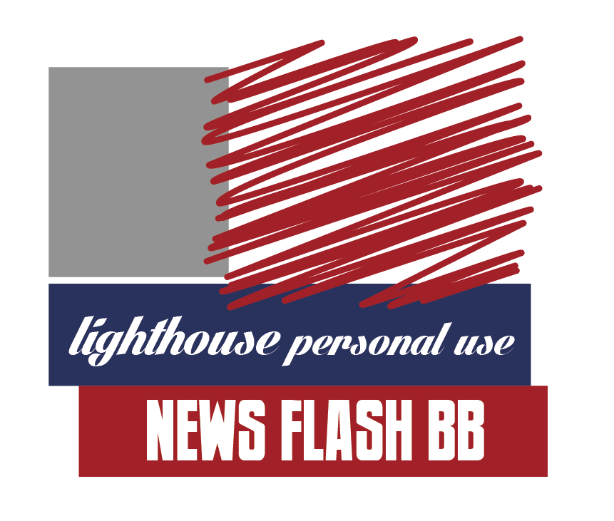 red blue gray visual color board lighthouse personal use text newsflash bb vintage fonts