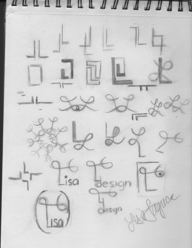 brainstorming sketches logo logos design ll symmetry reflective radial simple pencil