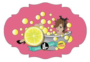 adobe illustrator design of pinup girl in lemon bubble bath